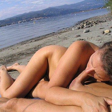 Фото пляжный секс